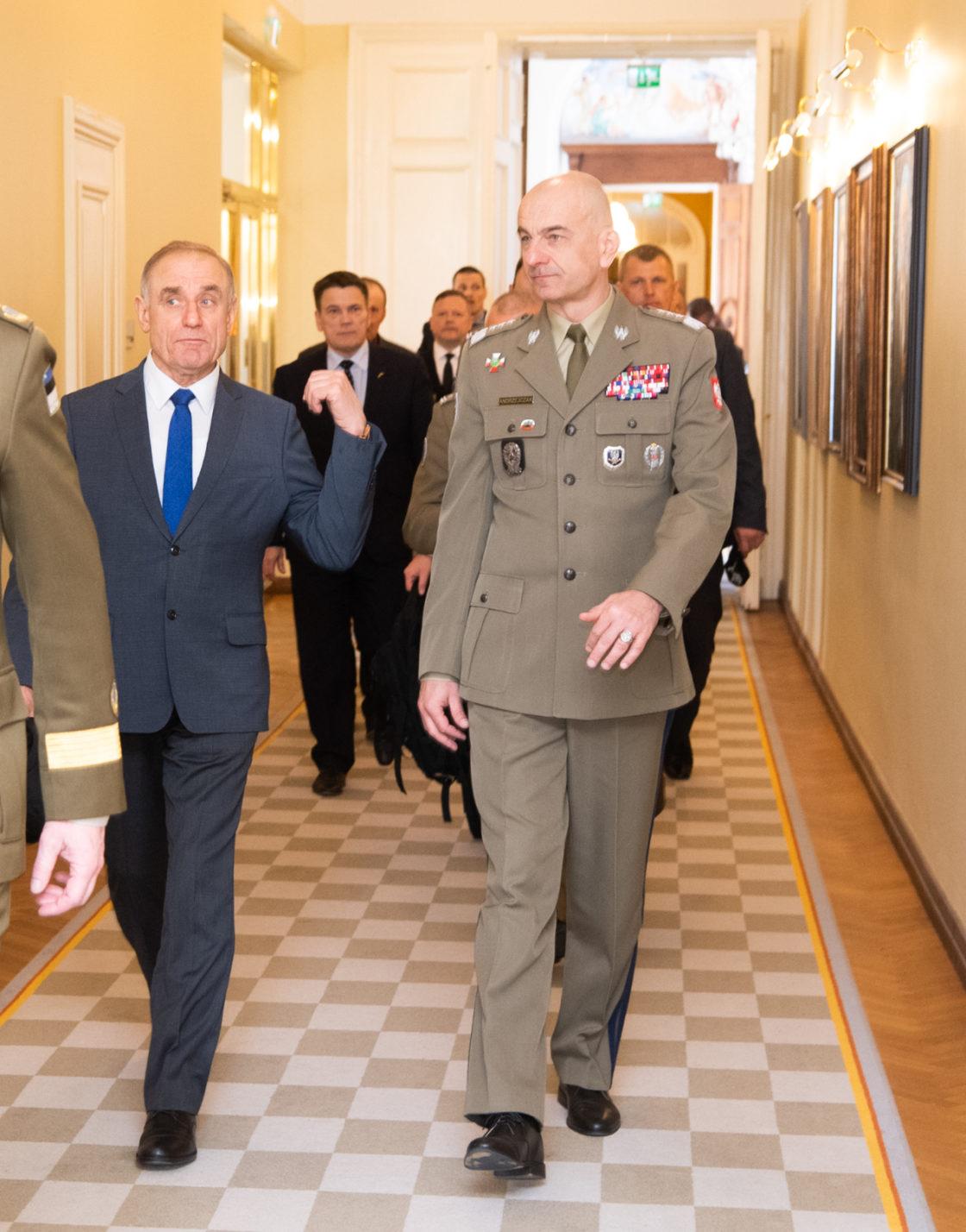 Kohtumine Poola Kaitseväe juhataja kindralleitnant Rajmund T. Andrzejczakiga.