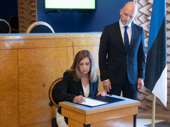 Täiskogu istung, Finantsinspektsiooni 2018. aasta aruanne, Kert Kingo ametivanne ja Arto Aasa tagasiastumine
