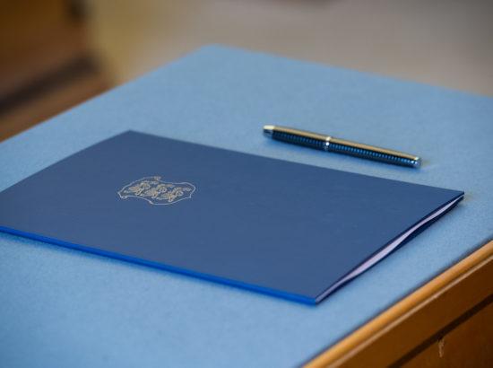 Täiskogu istung, ametivande andsid Riigikogu liikmed Signe Riisalo ja Rein Suurkask