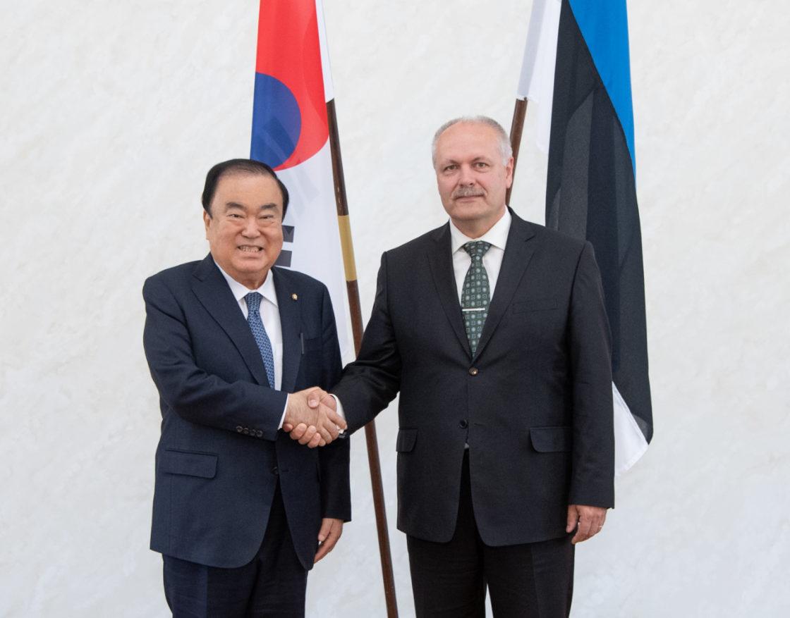 Riigikogu esimees Henn Põlluaas kohtus Korea Vabariigi Rahvusassamblee esimehe Moon Hee-sangiga
