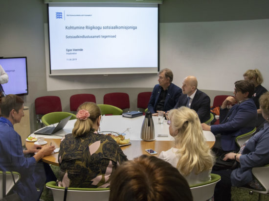 Sotsiaalkomisjoni väljasõiduistung Sotsiaalkindlustusametisse