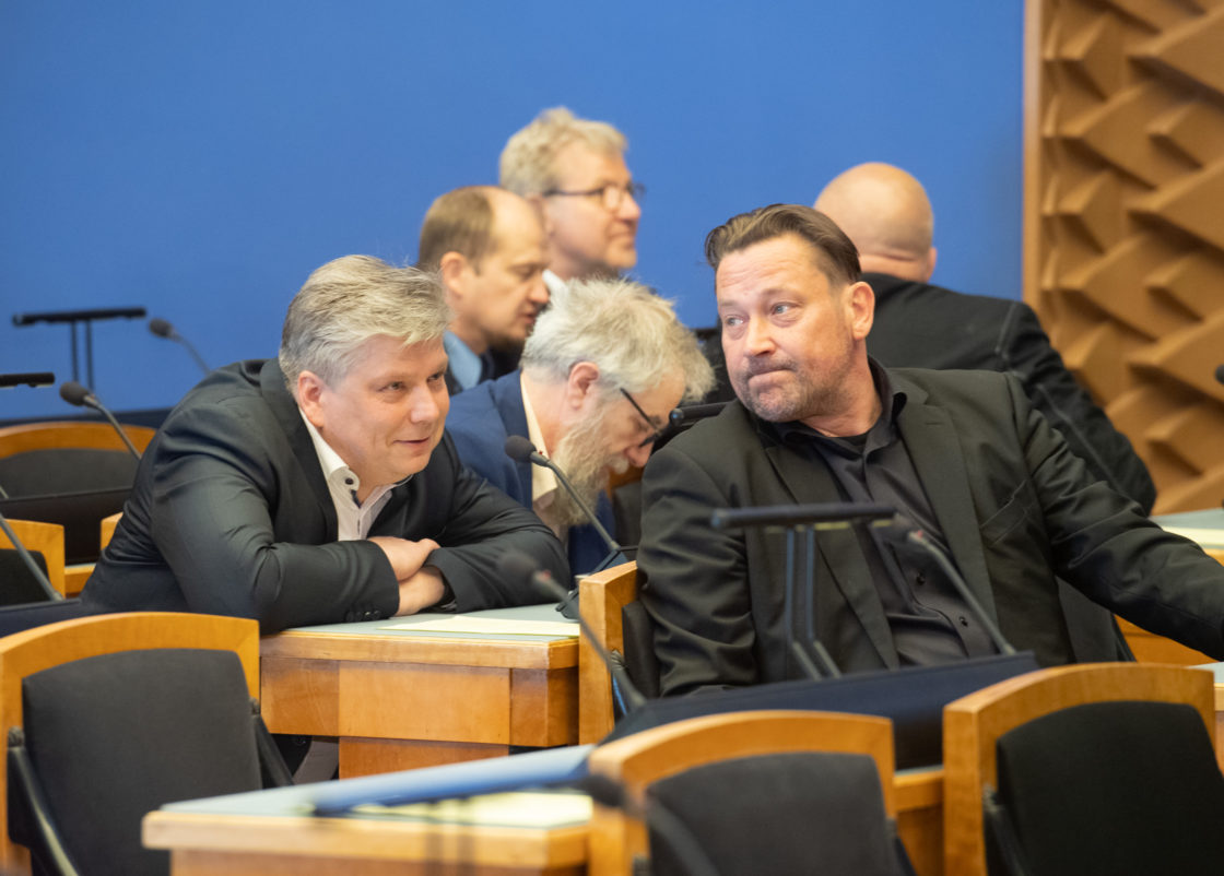 Täiskogu istung, ametivande andsid Riigikogu liige Siim Kiisler ning Riigikohtu liikmed Kaupo Paal ja Kai Kullerkupp