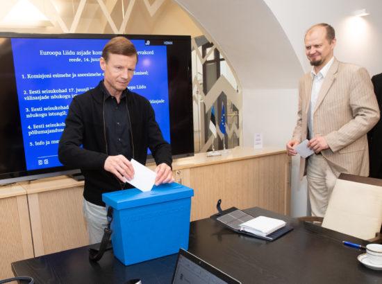 Euroopa Liidu asjade komisjoni esimehe ja aseesimehe erakorralised valimised