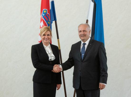 Riigikogu esimees Henn Põlluaas kohtus Horvaatia presidendi Kolinda Grabar-Kitarovićiga
