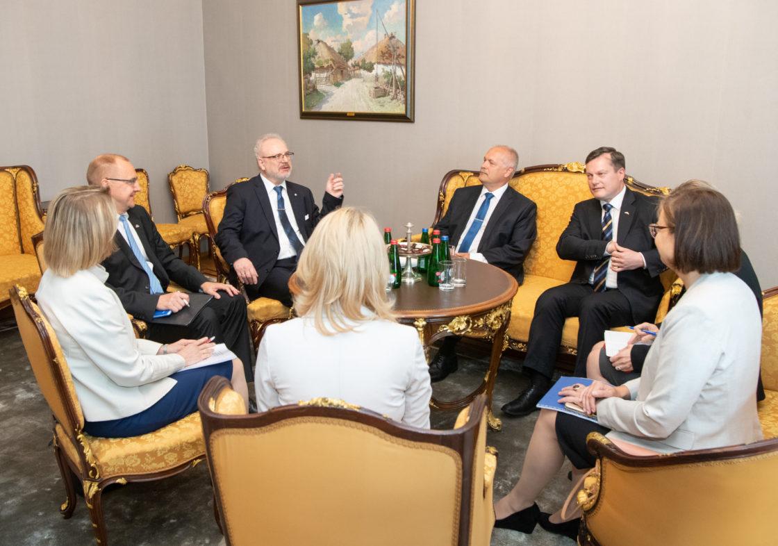 Riigikogu esimees Henn Põlluaas kohtus Läti presidendi Egils Levitsiga