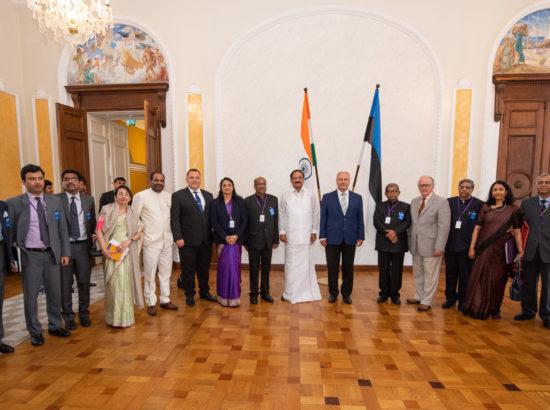 Riigikogu esimees Henn Põlluaas kohtus India asepresidendi M. Venkaiah Naiduga