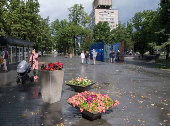 """Näituse """"Riigikogu 100"""" avamine Narva Peetri platsil"""