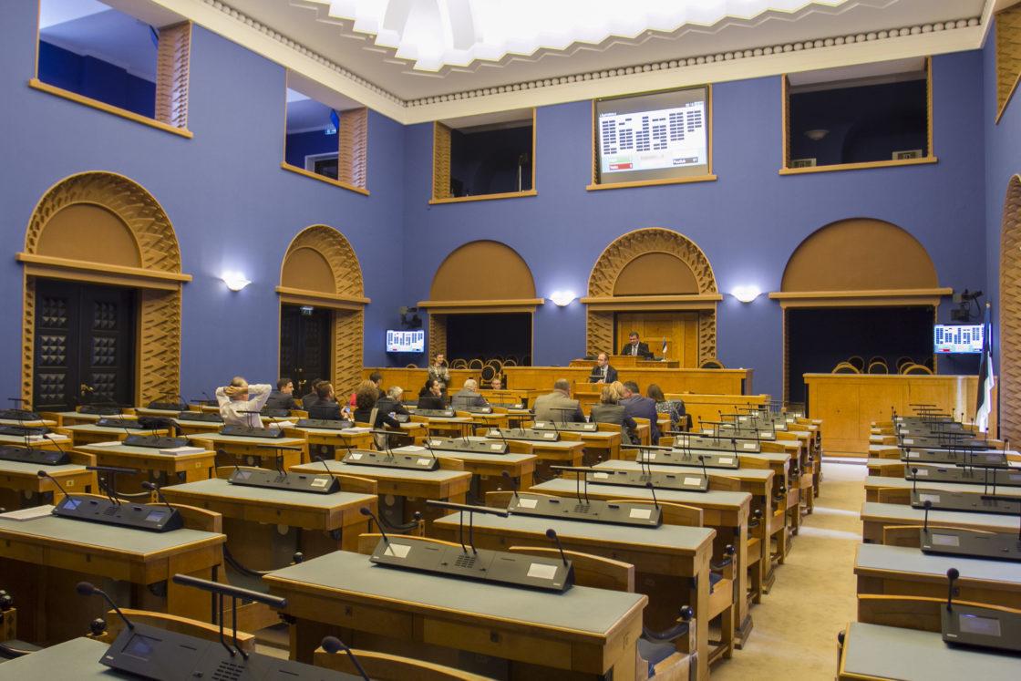 Põhja-Makedoonia parlamendi aseesimehe Goran Misovski juhitud delegatsioon tutvus Riigikogu tööga