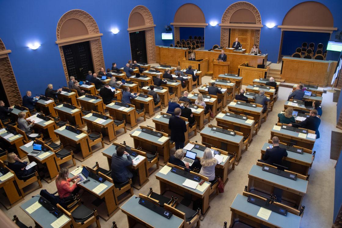 """Täiskogu istung, olulise tähtsusega riikliku küsimuse """"Pensioni tulevikust – kes tasub memme vaeva?"""" arutelu"""