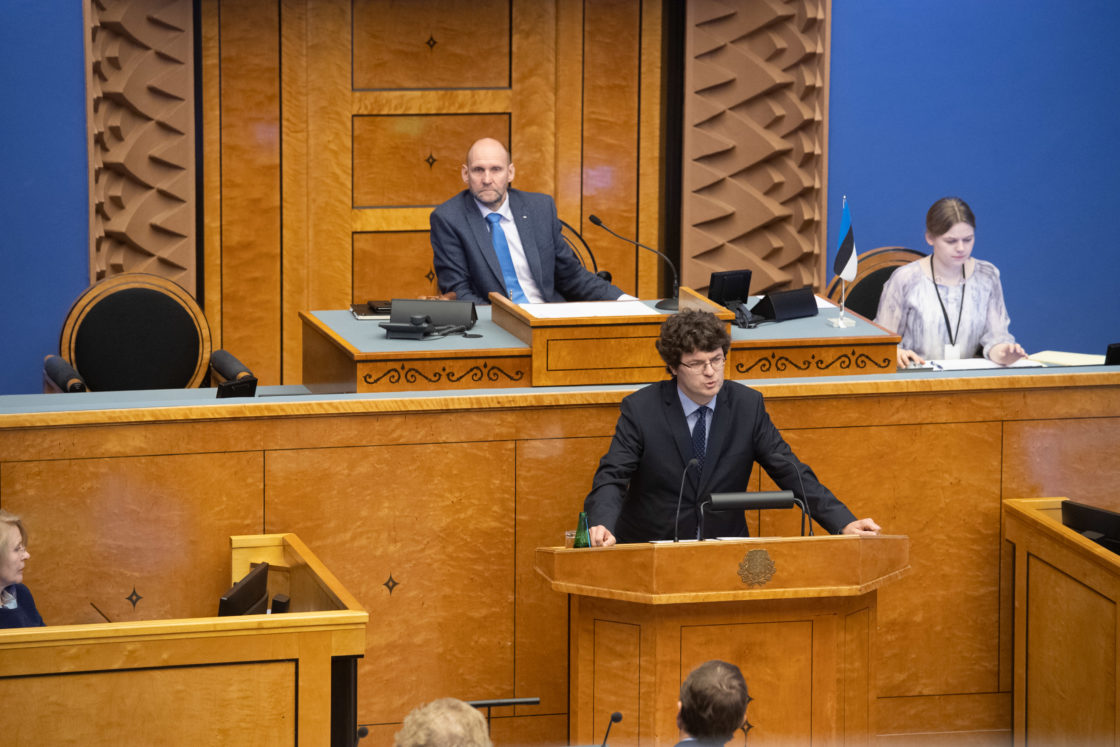 Kalev Saare Riigikogu ees