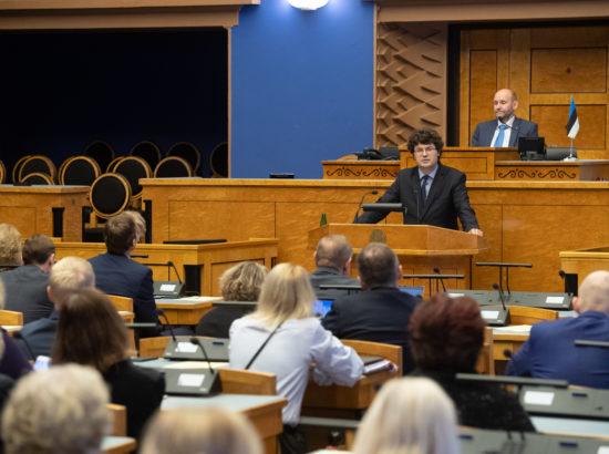 Täiskogu istung, Riigikogu nimetas Kalev Saare Riigikohtu liikmeks