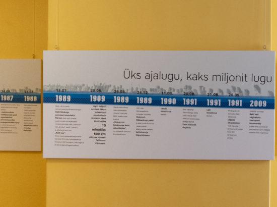 """Näitus """"Balti kett 30. Üks ajalugu, kaks miljonit lugu"""""""
