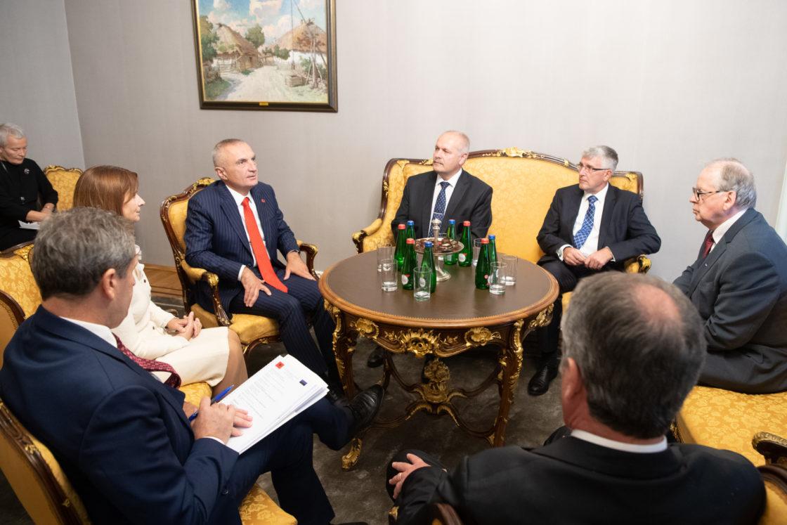 Riigikogu esimehe Henn Põlluaasa ja Albaania presidendi Ilir Meta kohtumine