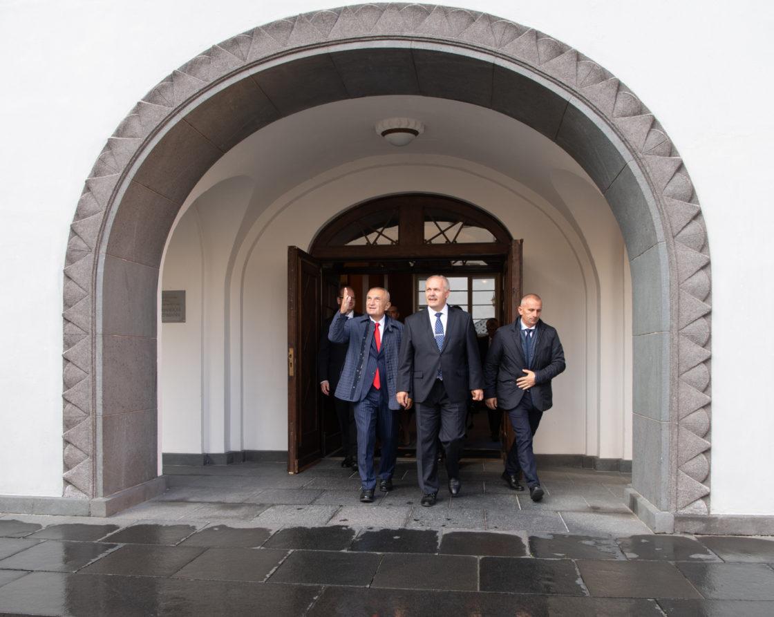 Riigikogu esimees Henn Põlluaas ja Albaania president Ilir Meta