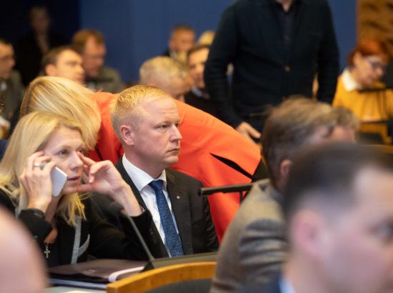 Riigikogu täiskogu istung, Mart Võrklaeva ametivanneRiigikogu täiskogu istung, Mart Võrklaeva ametivanne