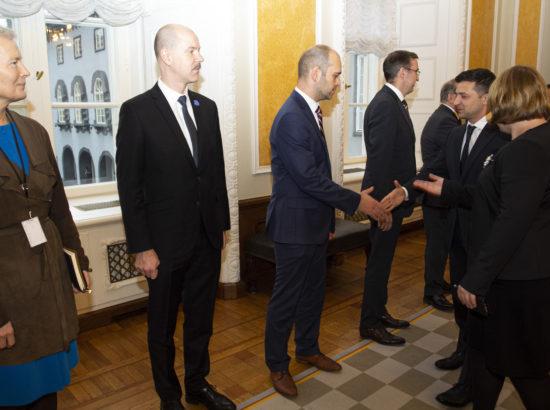 Ukraina president Volodõmõr Zelenskõi külastas Riigikogu.