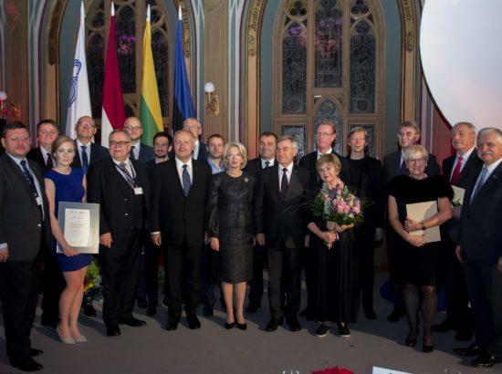 Balti Assamblee auhindade üleandmise tseremoonia