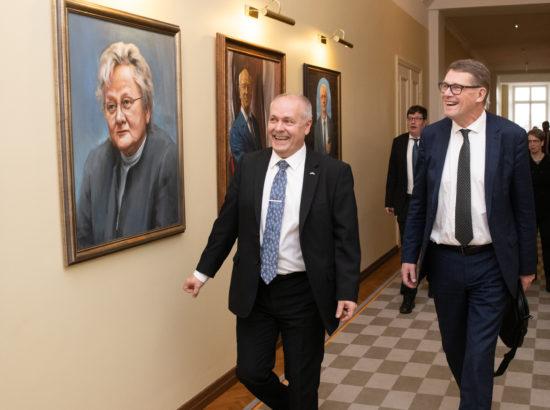 Riigikogu esimees Henn Põlluaas ja Eduskunna esimees Matti Vanhanen