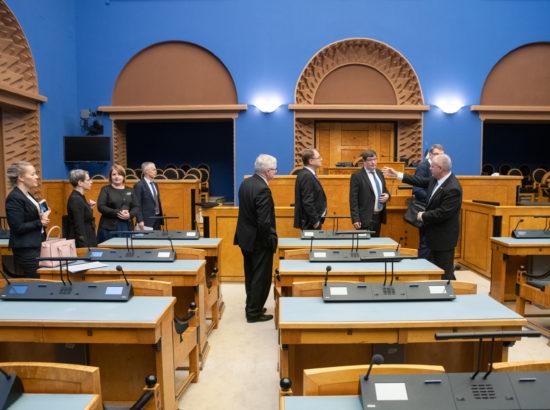 Riigikogu esimehe Henn Põlluaasa ja Eduskunna esimehe Matti Vanhaneni kohtumine