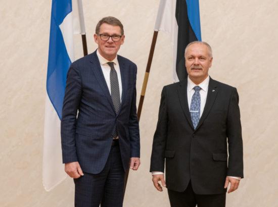 Riigikogu esimehe Henn Põlluaasa kohtumine Eduskunna esimehe Matti Vanhaneniga