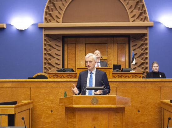 Riigikogu arutas Eesti Keskerakonna fraktsiooni algatusel  maksusüsteemi tuleviku üle. Ettekannet peab ettevõtja Indrek Neivelt.