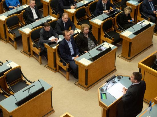 Peaminister Jüri Ratas annab ülevaate Vabariigi Valitsuse tegevusest Euroopa Liidu poliitika teostamisel