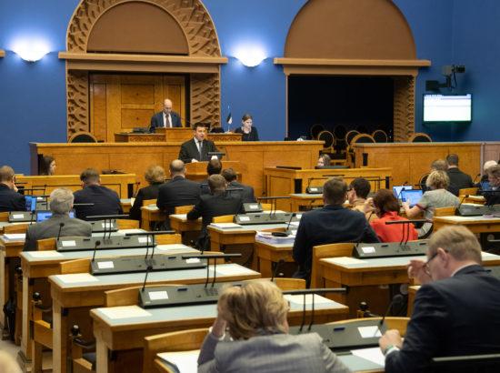 Täiskogu istung, maaeluminister Arvo Alleri ametivanne ning ülevaade valitsuse tegevusest Euroopa Liidu poliitika teostamisel