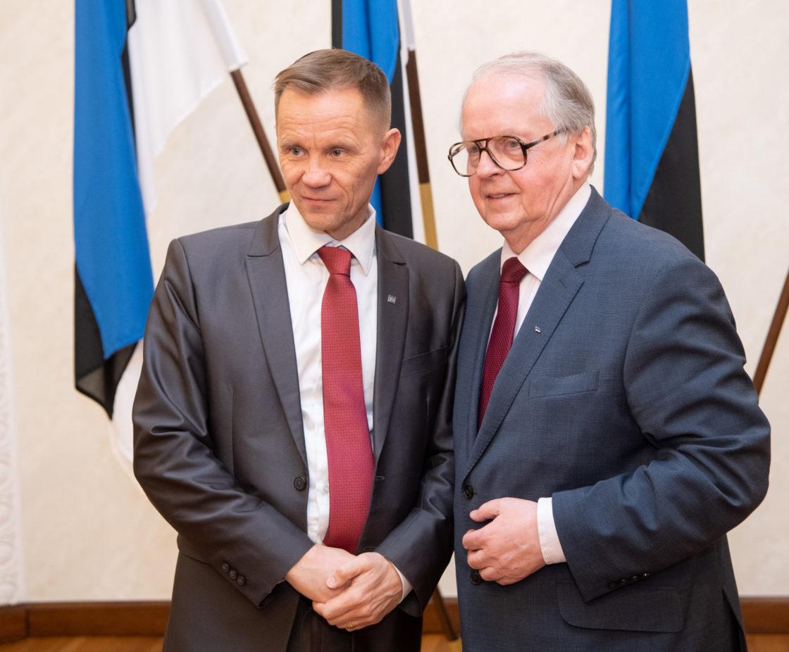 Väliskomisjoni esimees Enn Eesmaa ja Soome parlamendi väliskomisjoni esimees Mika Niikko
