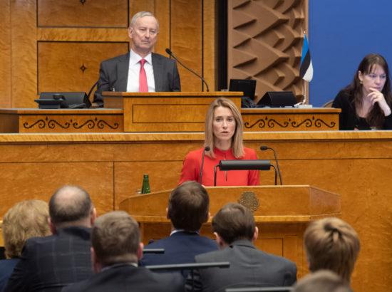 Ettekanne Eesti Reformierakonna fraktsiooni esimehelt Kaja Kallaselt