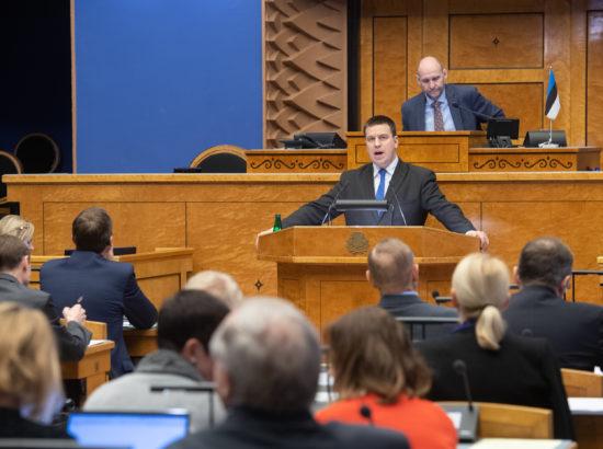 Peaminister Jüri Ratase ülevaade teadus- ja arendustegevuse olukorrast ning valitsuse poliitikast selles valdkonnas