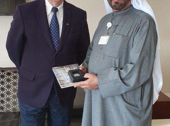 Väliskomisjoni esimees Enn Eesmaa ning Araabia Ühendemiraatide poliitikaküsimuste aseminister Khalifa Shaheen Al Marar