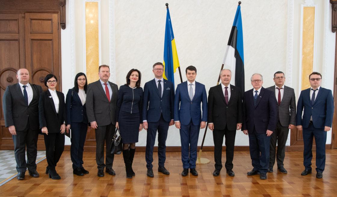 Kohtumine Ukraina Ülemraada esimehe Dmõtro Razumkoviga