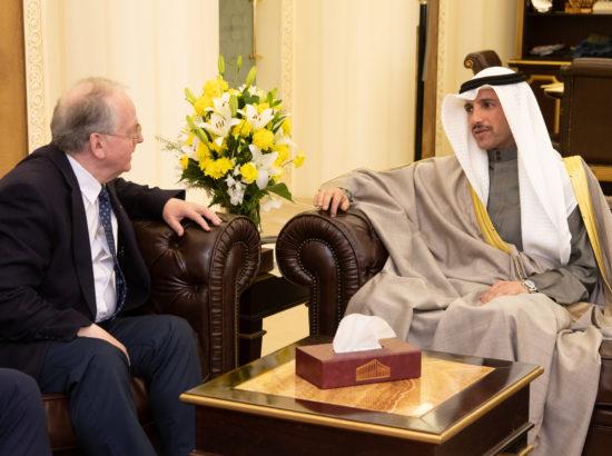 Väliskomisjoni esimees Enn Eesmaa ning Kuveidi Rahvuskogu esimees Marzouq Ali Al Ghanim