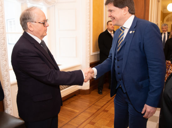Väliskomisjoni esimees Enn Eesmaa ja Rootsi parlamendi Riksdagi esimees Andreas Norlén