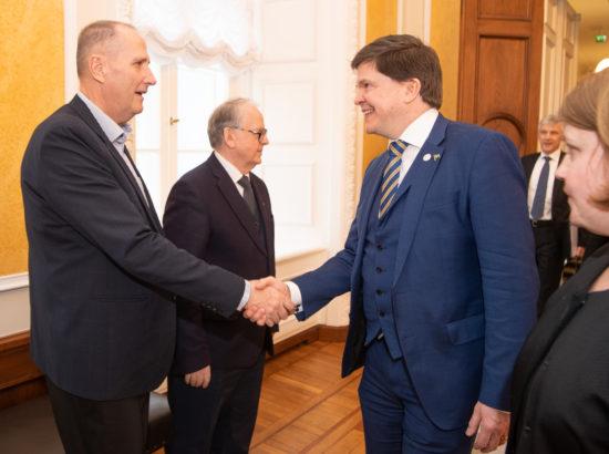 Väliskomisjoni liige Valdo Randpere ja Rootsi parlamendi Riksdagi esimees Andreas Norlén