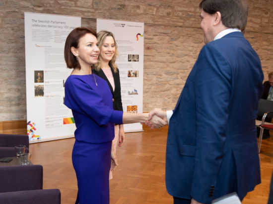 Väliskomisjoni ja Euroopa Liidu asjade komisjoni liige Keit Pentus-Rosimannus ning Riksdagi esimees Andreas Norlén
