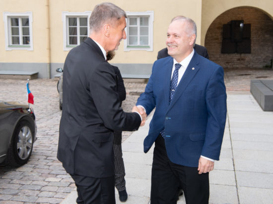 Riigikogu esimees Henn Põlluaas ja Tšehhi välisminister Andrej Babiš