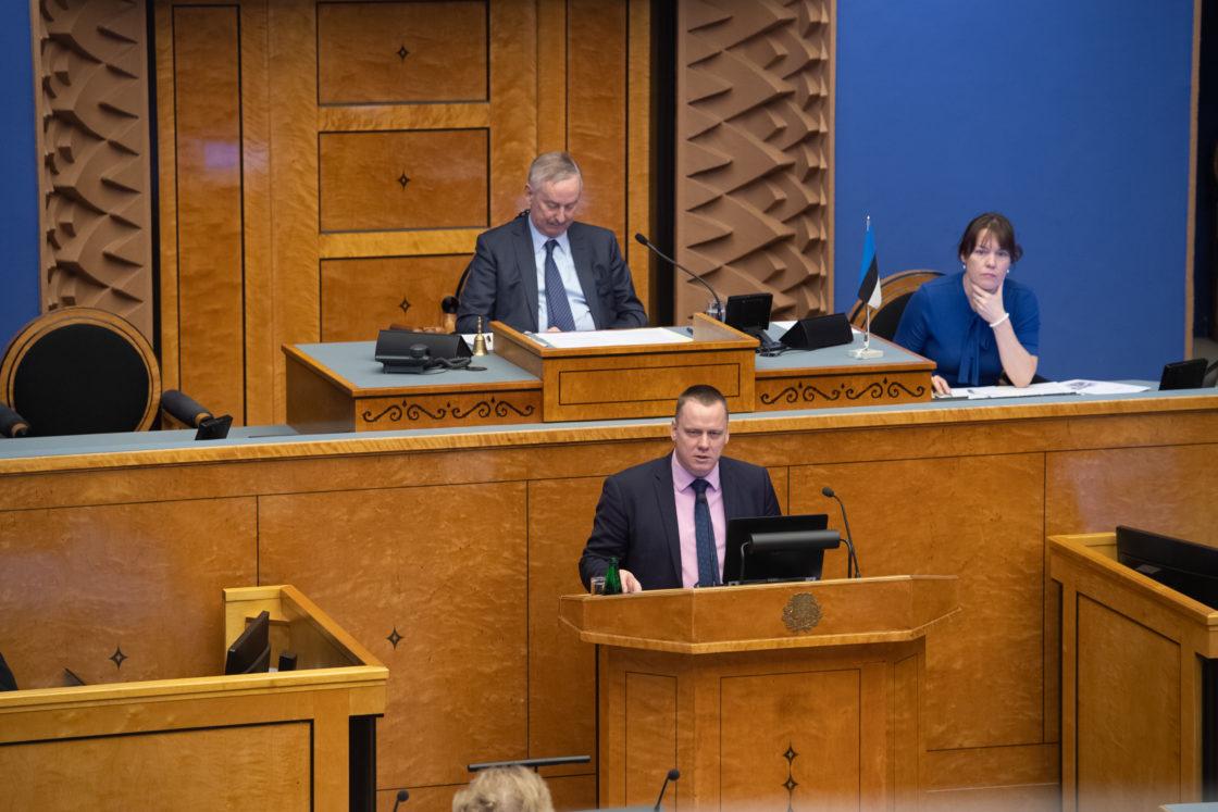 Keskkonnaagentuuri metsaosakonna juhataja Taivo Denksi ettekanne