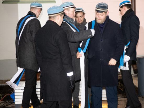 Eesti vabariigi 102. aastapäeva lipuheiskamise tseremoonia, konfereeris Voldemar Panso preemia laureaat Maarja Johanna Mägi