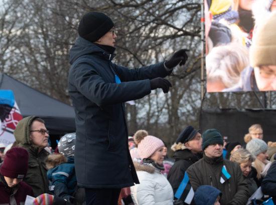 Eesti vabariigi 102. aastapäeva lipuheiskamise tseremoonia