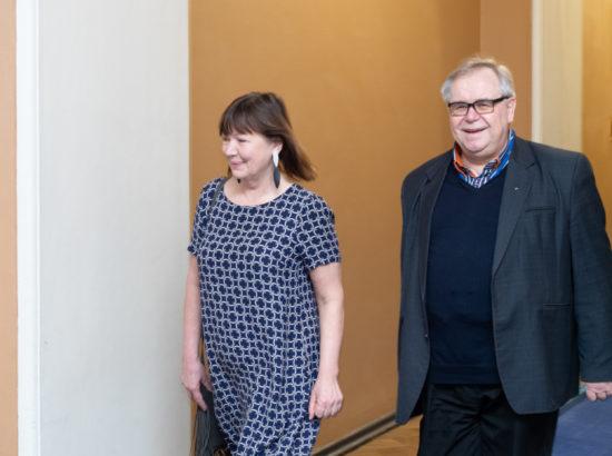 Riigikogu liikmed Heljo Pikhof ja Aadu Must