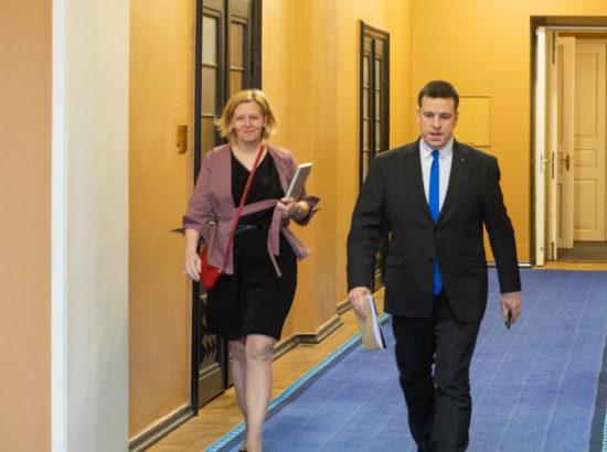 Riigikogu liige Annely Akkermann ja peaminister Jüri Ratas