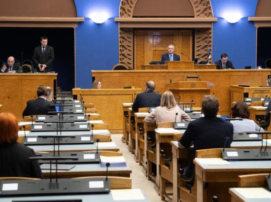 Riigikogu infotund 18. märtsil 2020