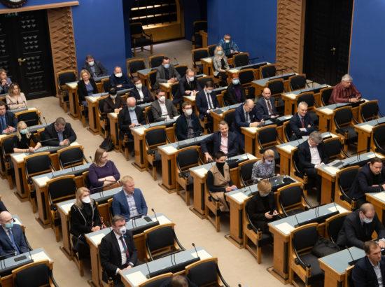 Täiskogu täiendav istung, 2020. aasta lisaeelarve seaduse eelnõu üleandmine