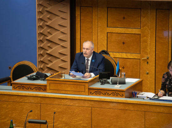 Täiskogu täiendav istung, 2020. aasta lisaeelarve seaduse eelnõu üleandmine. Peaminister Jüri Ratase politiiline avaldus.