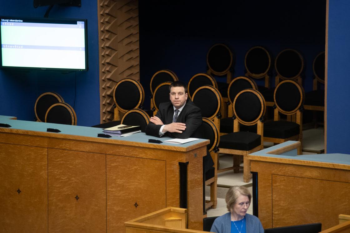 Täiskogu täiendav istung, 2020. aasta lisaeelarve seaduse eelnõu üleandmine. Peaminister Jüri Ratas.