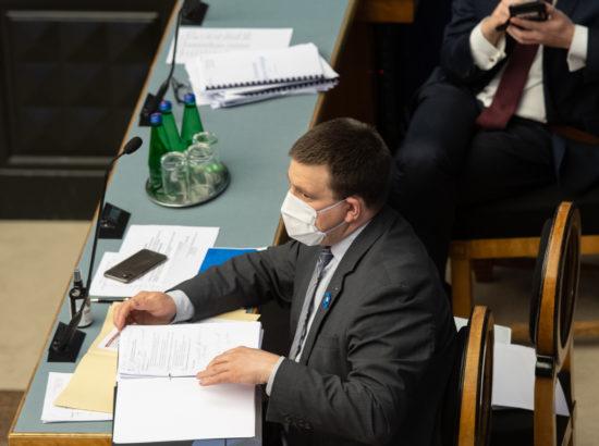 Riigikogu infotund. Peaminister Jüri Ratas.