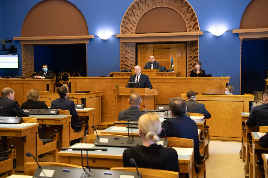 Täiskogu istung, väliskaubandus- ja infotehnoloogiaministri Raul Siemi ametivanne
