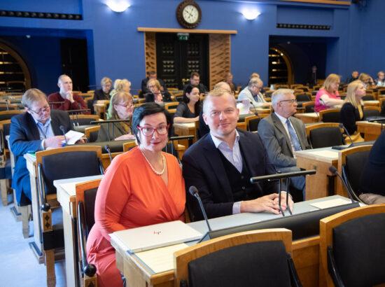 Riigikogu liikmed Katri Raik ja Jaak Juske