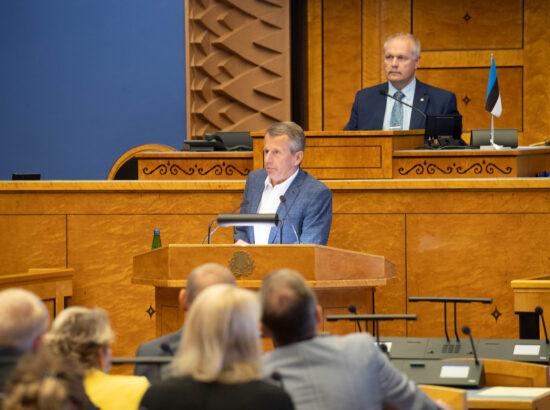 Riigikogu erakorraline istungjärk, Reformierakonna fraktsiooni esindaja Jürgen Ligi ettekanne